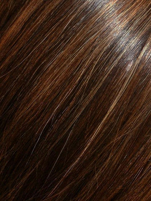 FS4/33/30A MIDNIGHT COCOA | Dark Brown Medium Red Medium Natural Red Blonde/Brown Blend with Medium Natural Red Blonde/Brown Blend Bold Highlights