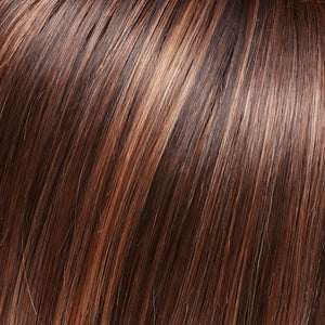 Jon Renau - FS6/30/27 Toffee Truffle | Brown, Medium Red-Gold, Medium Red-Gold Blonde Blend with Medium Gold Blonde Bold Highlights