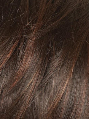 Rene of Paris Wigs | GARNET GLAZE | Dark Brown and Dark Auburn Base with Medium Auburn and Bright Auburn Highlights