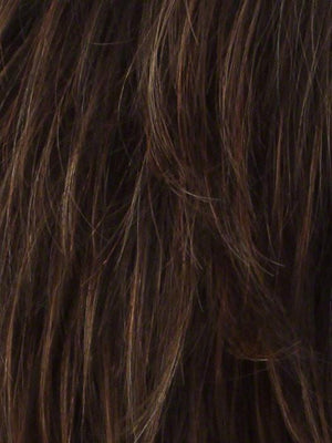 Noriko Wigs | GINGER HIGHLIGHT | Medium Brown with Light Auburn Highlights