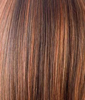 Rene of Paris Wigs | GINGER HIGHLIGHT | Medium Brown with Light Auburn Highlights
