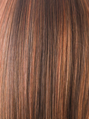 Rene of Paris Wigs | GINGER-H | Medium Brown and Light Auburn highlight