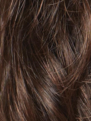 Noriko Wigs | GINGER BROWN Medium Auburn Evenly Blended with Medium Brown