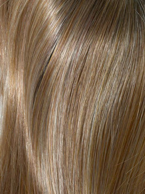 Envy Wigs | GOLDEN NUTMEG | Medium Brown roots with overall Warm Cinnamon base and Golden Blonde highlights