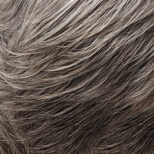 Jon Renau Wigs - Color GREY WITH 30% MEDIUM BROWN FRONT AND DARK BROWN WITH 65% GREY NAPE (51F44)