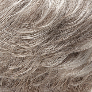 Jon Renau Wigs | 56F51 OYSTER | Light Grey with 20% Medium Brown Front, graduating to Grey with 30% Medium Brown Nape
