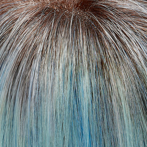 Jon Renau Wigs | Glacier | Pure White with Blue Blend. Shaded with Brown