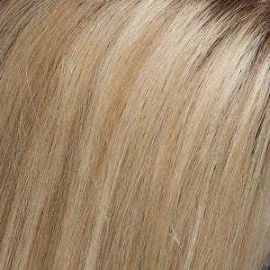 Jon Renau l 22F16S8 l Venice Blonde :: Lt Ash Blonde & Lt Natural Blonde Blend, Shaded w/ Med Brown