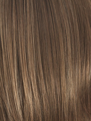 Noriko Wigs | HONEY WHEAT | Light Brown base with Honey Blonde highlight