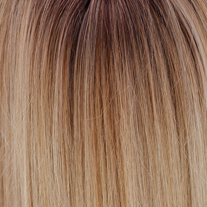 Belle Tress Wigs | Honey with Chai Latte | 11R/88B/613 | A blend of Sienna Brown and cool medium brown rooting with a blend of honey blonde, light blonde and smoky blonde with a hint of pure blonde