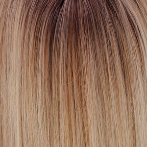 BelleTress Wigs | Honey with Chai Latte | 11R/88B/613 | A blend of Sienna Brown and cool medium brown rooting with a blend of honey blonde, light blonde and smoky blonde with a hint of pure blonde