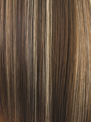 Rene of Paris Wigs | ICED-MOCHA | Medium Brown blended with Light Blonde highlights