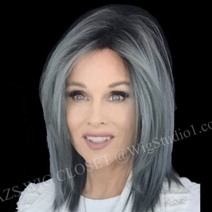 BelleTress Wigs | Blue Steele | A blend of blue-grey with natural coffee roots