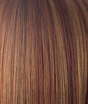 Rene of Paris Wigs | IRISH-SPICE | Medium Auburn base with Dark Honey Blonde highlights