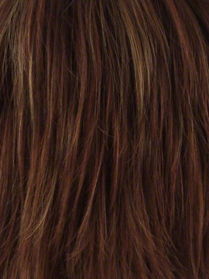 Noriko Wigs | IRISH SPICE R Rooted Dark Auburn with Medium Auburn Base and Dark Honey Blonde Highlights