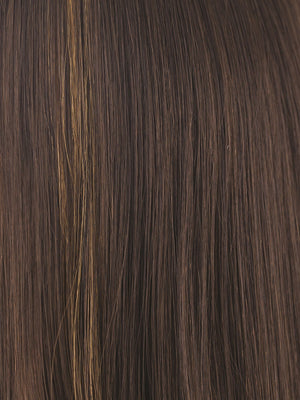 Noriko Wigs | KAHLUA BLAST | Warm Medium Brown with Bold Caramel Brown Highlights in Front