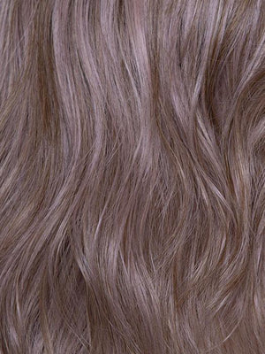 LAVENDER | Medium Dark Brown Root, Blended into a Light Silver Smoke Tones Blended with Various Shades of Purple