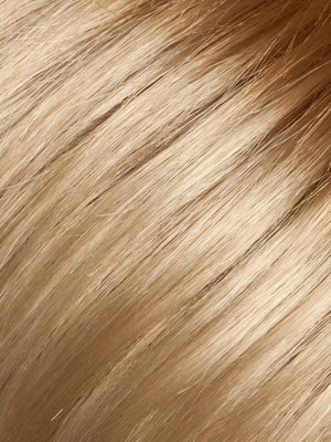 LIGHT-HONEY-ROOTED | Medium Honey Blonde Platinum Blonde and Light Golden Blonde blend with Dark Roots