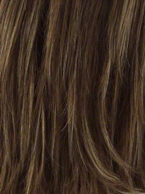 Noriko Wigs | LIGHT CHOCOLATE  Light Brown w Light Reddish Brown Highlights