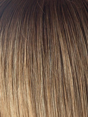 MACADAMIA-LR | Dark brown with beige blonde ends Dark Long Roots