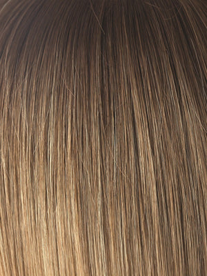 Noriko Wigs | MACADAMIA-LR | This color is our darker more beige blonde. The root is soft brown color that melts into a beige blonde color. The look is natural and universally flattering