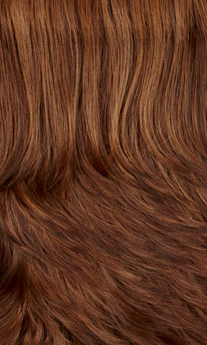 MAHOGANY-Dark auburn & medium brown with warm strawberry highlights