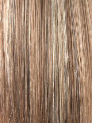 Rene of Paris Wigs | MAPLE-SUGAR | Light Honey Brown base with Strawberry Blonde highlights