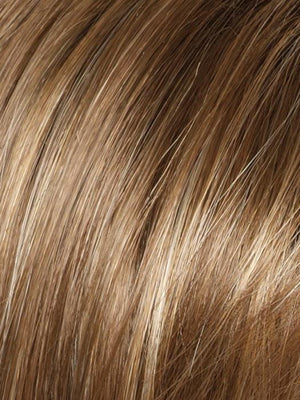 Amore Wigs | MAPLE SUGAR | Medium Brown with Light Honey Brown Base and Strawberry Blonde Highlights