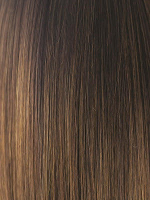 Amore Wigs | MARBLE-BROWN-R | Medium Brown evenly Blended with Light Honey Brown with Dark roots