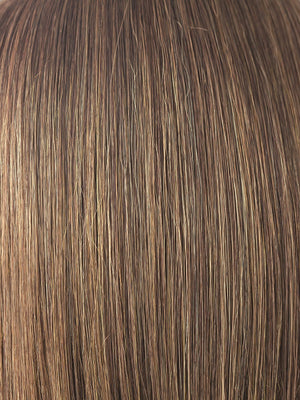 Noriko Wigs | MARBLE BROWN | Medium Brown and Light Honey Brown evenly blended