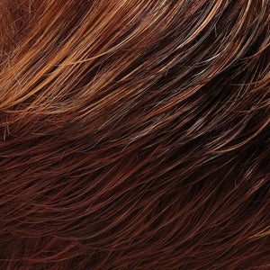 Bree Open Top Wig by Jon Renau MEDIUM RED & DARK STRAWBERRY BLONDE BLEND W MED RED NAPE (32F)