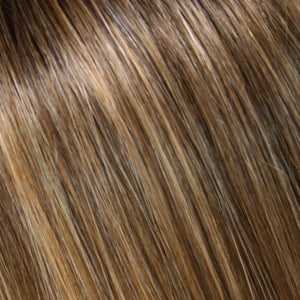 Jon Renau - 24B18S8 | Medium Natural Ash and Light Natural Gold Blonde Blend Shaded with Medium Brown