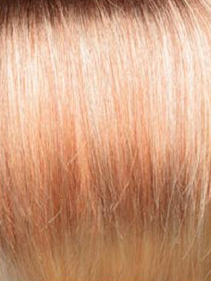 Rene of Paris Wigs | Melted Sunset-R | Light Brown blended with Apricot Blonde and Gold Blonde with Medium Brown Rooting