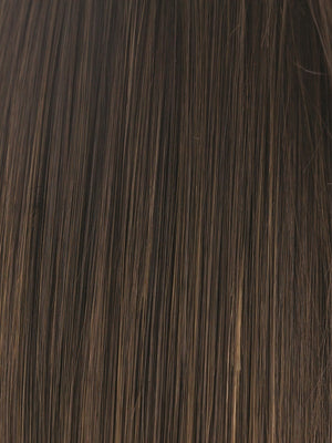 Rene of Paris Wigs | MOCHA-BROWN | Mocha Brown with Light Brown highlights around the face and at the nape