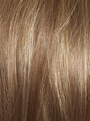 Amore Wigs | MOCHACCINO | Medium Brown with Light Brown Base and Strawberry Blonde Highlights