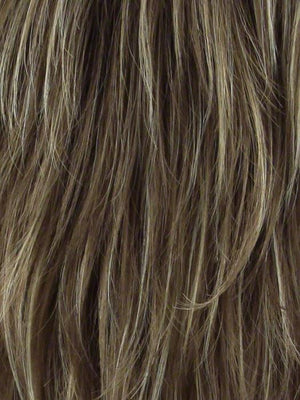 Noriko Wigs | MOCHACCINO R Rooted Medium Brown with Light Brown Base and Strawberry Blonde Highlights