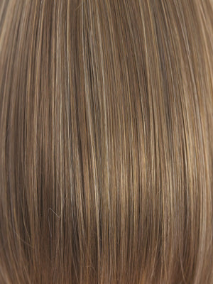 Rene of Paris Wigs | MOCHACCINO | Light Brown base with Strawberry Blonde highlights