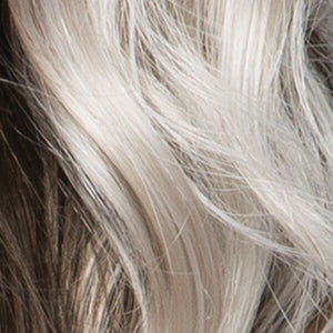 ICYSHADOW |	Iced Blonde Dusted with Soft Sand & Golden Brown Roots with Golden Brown Underneath