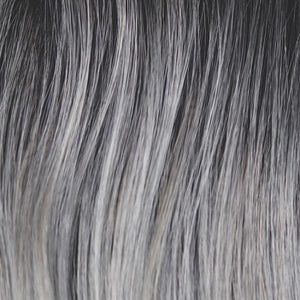 Rene of Paris Wigs | Moonstone - Dark ashy brown root with a blend of gray and light ashy blond highlights