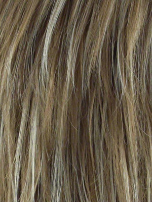 Noriko Wigs | NUTMEG-F | Dark Honey Brown Base with Blonde Highlights