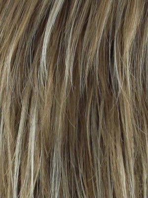 Noriko Wigs | NUTMEG F Medium Blonde and Honey Brown Base Frosted with Platinum Blonde Highlights