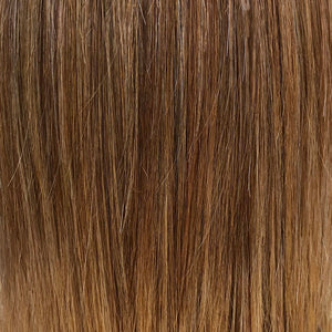 Belle Tress Wigs | Nutella Buttercream | A rich blend of medium chocolate brown, cinnamon dust, milk chocolate and a hint of strawberry and cool blonde highlights.