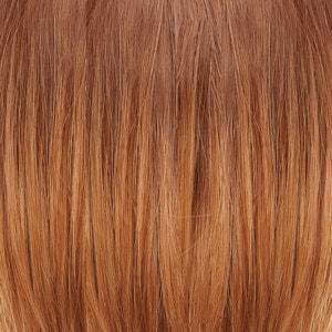 Jon Renau Wigs - Color OMBRE DARK MEDIUM BROWN W HINTS OF STRAWBERRY BLONDE AND GOLDEN RED BLEND (B8-2730RO)