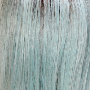 BelleTress Wigs | Ocean Blonde | combination of eight blondes and eight blue medium tones and light mixed brown roots