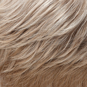 Jon Renau Wigs | 101F48T | Soft White Front, Light Brown with 75% Grey Blend with Soft White Tips