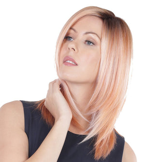 BelleTress Wigs | Strawberry Shortcake | Natural dark roots with a seamless blend of pink pastel, blush rose and fuchsia