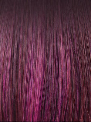 Plumberry Jam-R | Medium Plum Ombre rooted with 50/50 blend of Red/Fuschia