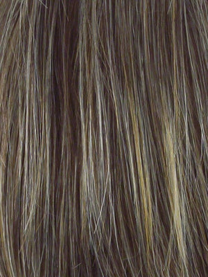 Hairdo Wigs - Color R11S+ GLAZED MOCHA - Medium Brown with Golden Blonde highlights on top