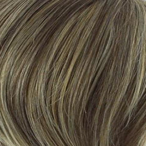 Raquel Welch Wigs | R11S GLAZED MOCHA | Warm Medium Brown with Golden Blonde Highlights on Top