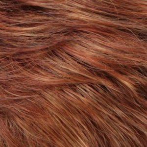 R133 24H  Auburn Bright Red with Pale Golden Blonde Highlights